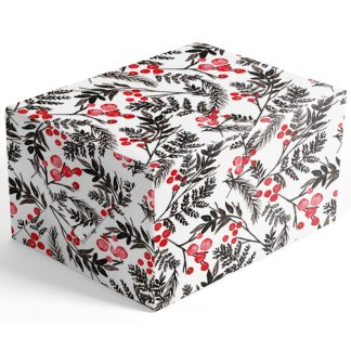 Black and Red Berries gift wrap
