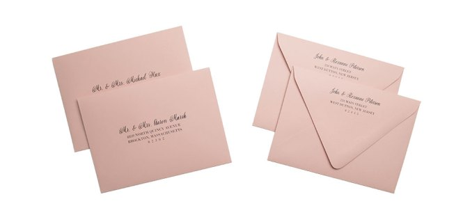 Full Guest Address Printed Envelopes