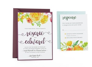 Simple And Clear Wedding Invitation Template For