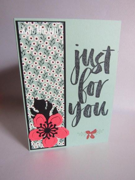 Botanical Builder Framelits, Botanicals For You, Love Blossoms DSP, Feminine Handmade Card, DIY, Stampinup, Saleabration 2016