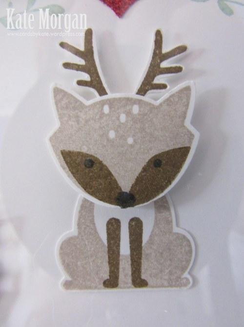 Shadow Box, Foxy Friends, Deer, DIY, #stampinup, Handmade