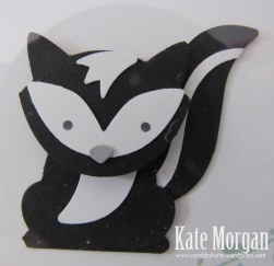 Shadow Box, Foxy Friends, Skunk, DIY, #stampinup, Handmade