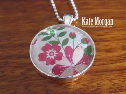 Love Blossoms Designer Costume Jewellery Necklace, #stampinup @cardsbykate DIY