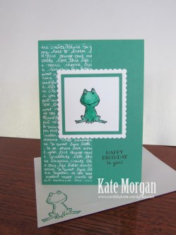 Love You Lots, Frog, Birthday Card, #stampinup, DIY, @cardsbykate