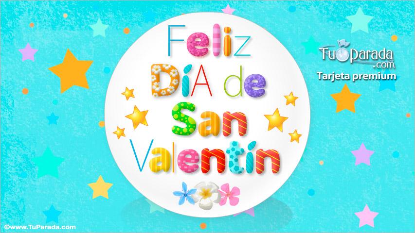 Postal Animada De San Valentn Con Estrellas San