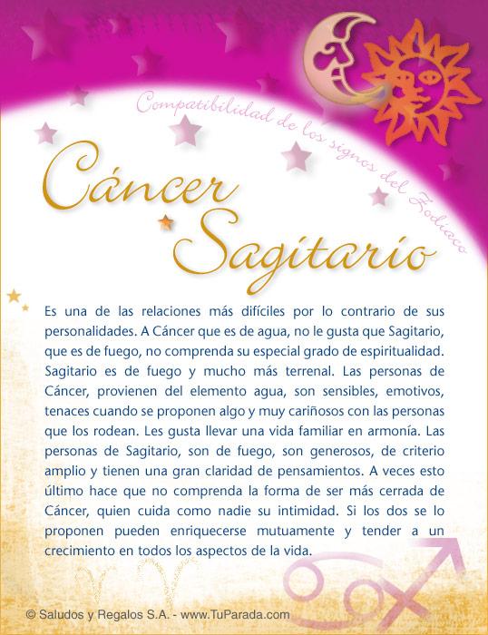 Cancer Con Sagitario