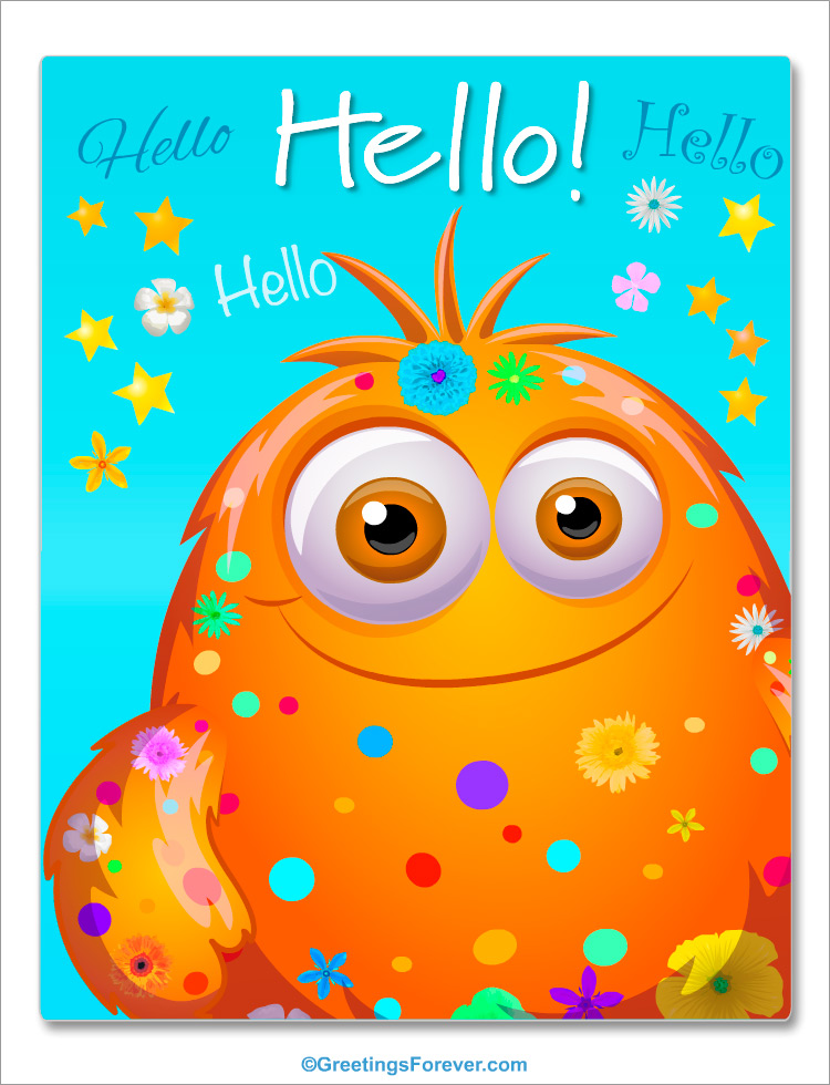 Hello And Greetings Hi Hello Ecards