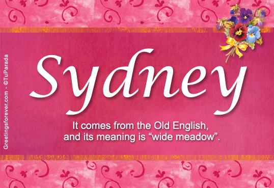 Sydney Name Meaning Sydney Name Origin Name Sydney