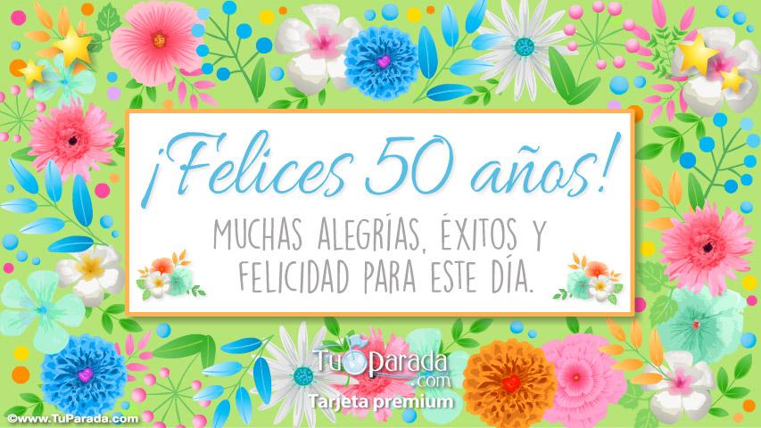 Tarjeta De Felices 50 Aos Cumpleaos Tarjetas