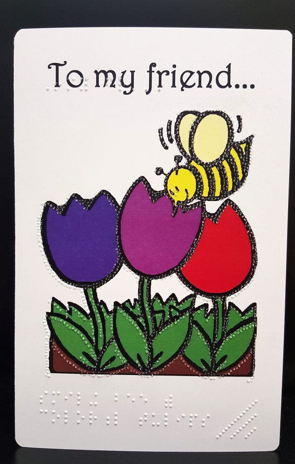 Bee Friendship Card Outside