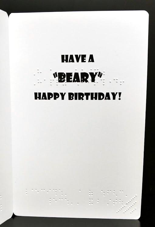 Birthday Bear Inside