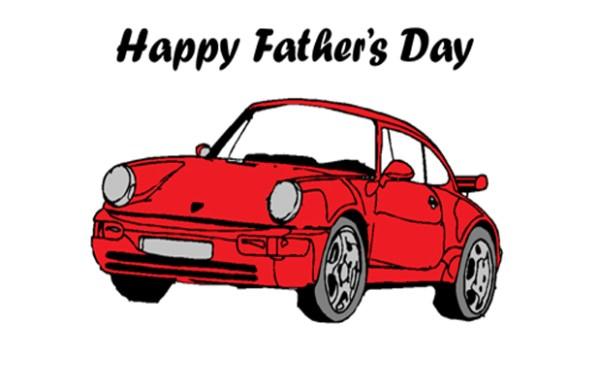 Father's Day Porsche Card