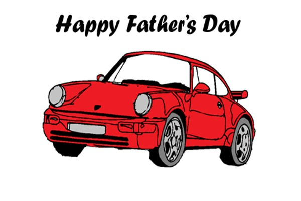 Father's Day Porsche Card