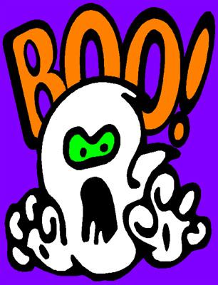 Ghost Halloween Card