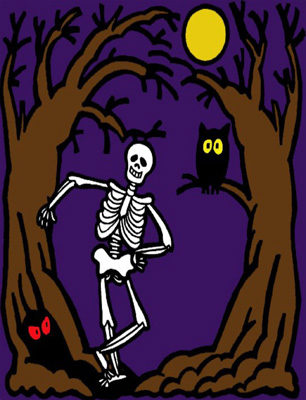 Skeleton Halloween Card