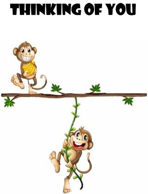 Monkeys Thinking of You Card