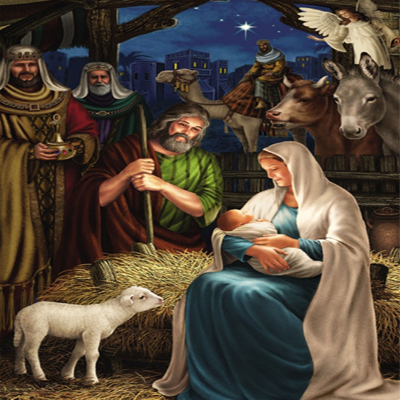 Nativity Scene Christmas Card