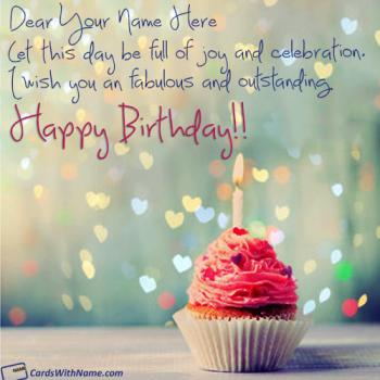 Happy Birthday Wishes Card With Name Generator 3