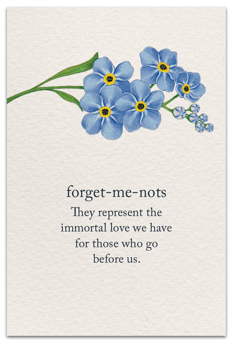 Forget Me Nots Condolence Card