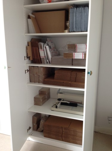 A peek into our packaging cabinet