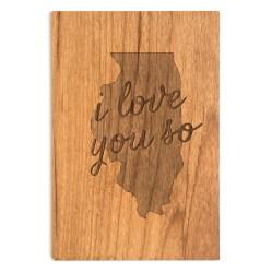 wood Illinois postcard