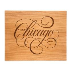 wooden Chicago print