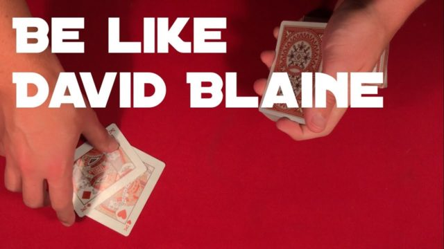 David Blaine Teaches a Card Trick to the Staff at Esquire