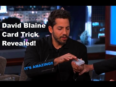The Best David Blaine Card Trick Revealed!