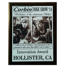 Innovation Award Corbin Ride-In Bike Show Hollister Rally 2014