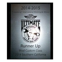 Runner Up Modified Harley J&P Cycles Ultimate Biker Build Off 2014 Long Beach, CA