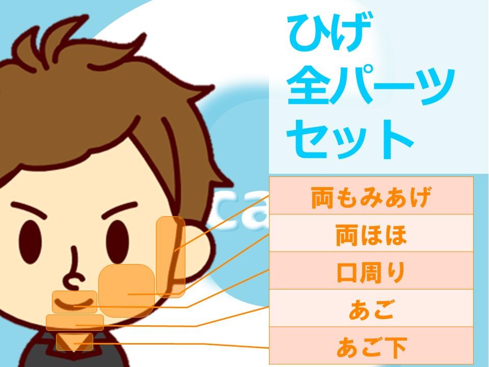 静岡県富士市のメンズ脱毛ケアスルの脱毛メニュー表