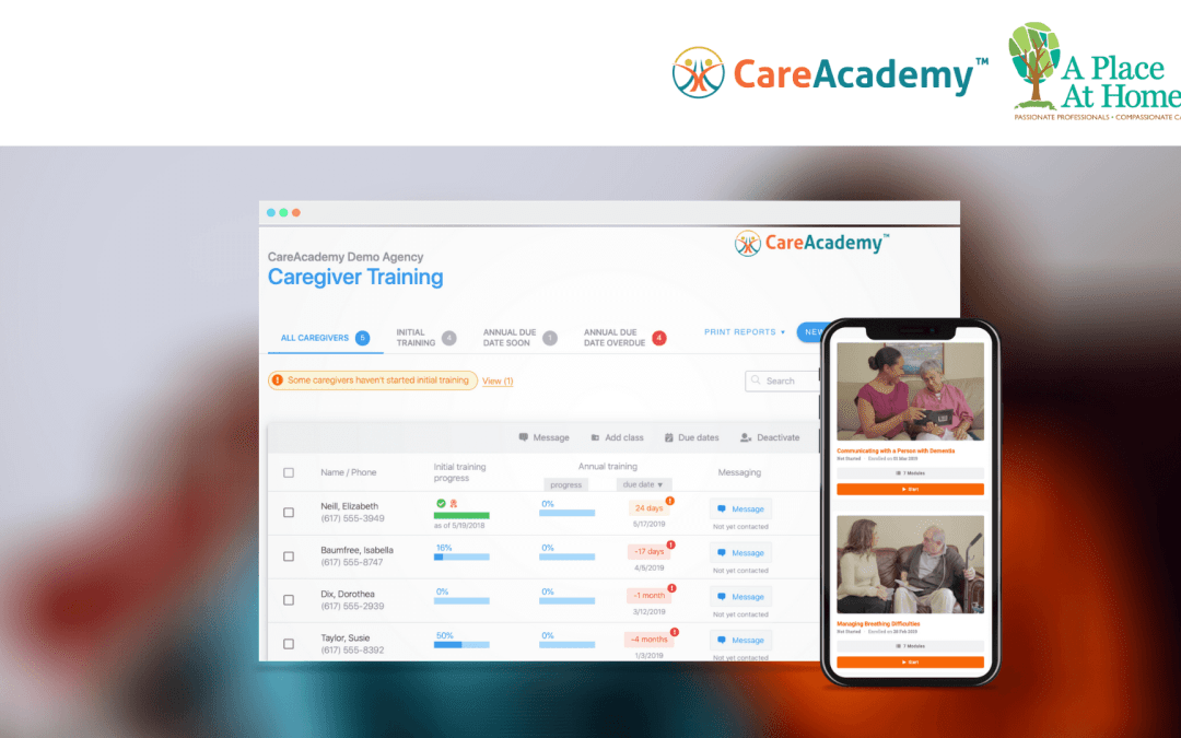 Press Release: CareAcademy Chosen By A Place at Home For Online Caregiver Training