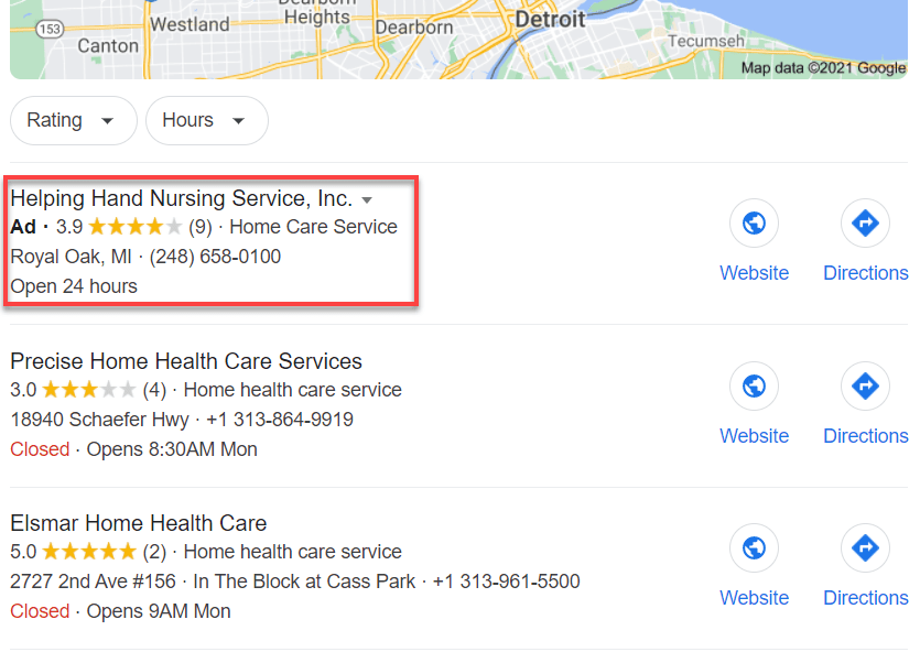 Location Ads Home Care Agency