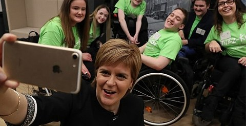 Nicola Sturgeon launches project to reduce social isolation among young disabled people 3