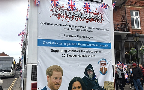 Homeless charity bus impounded in Windsor ahead of the Royal wedding 14