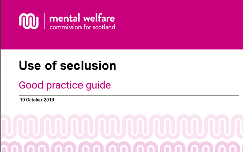 Guidance: Use of seclusion in care for people with mental illness or learning disability 7