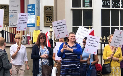 Lincolnshire health visitors start month-long strike over contract dispute 6