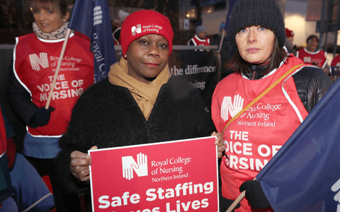 Thousands of nurses in Northern Ireland begin 12-hour strike over pay 9
