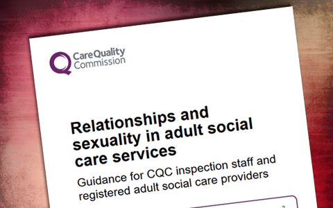 Guidance:  Relationships and sexuality in adult social care services (CQC)
