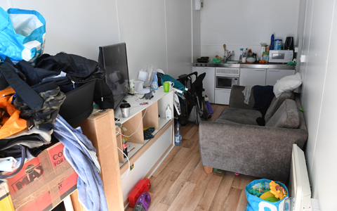 Homeless families despair at 'temporary' shipping containers 'promoted as flats'