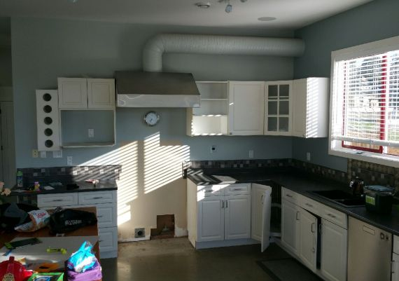 Gold - Goodison Construction and Jason Good Custom Cabinets - Cadboro Bay - before