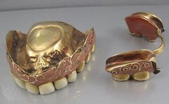antique false teeth or denture