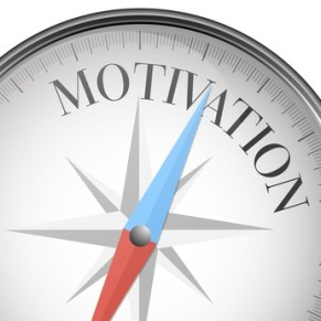 detailed illustration of a compass with motivation text, eps10 vector