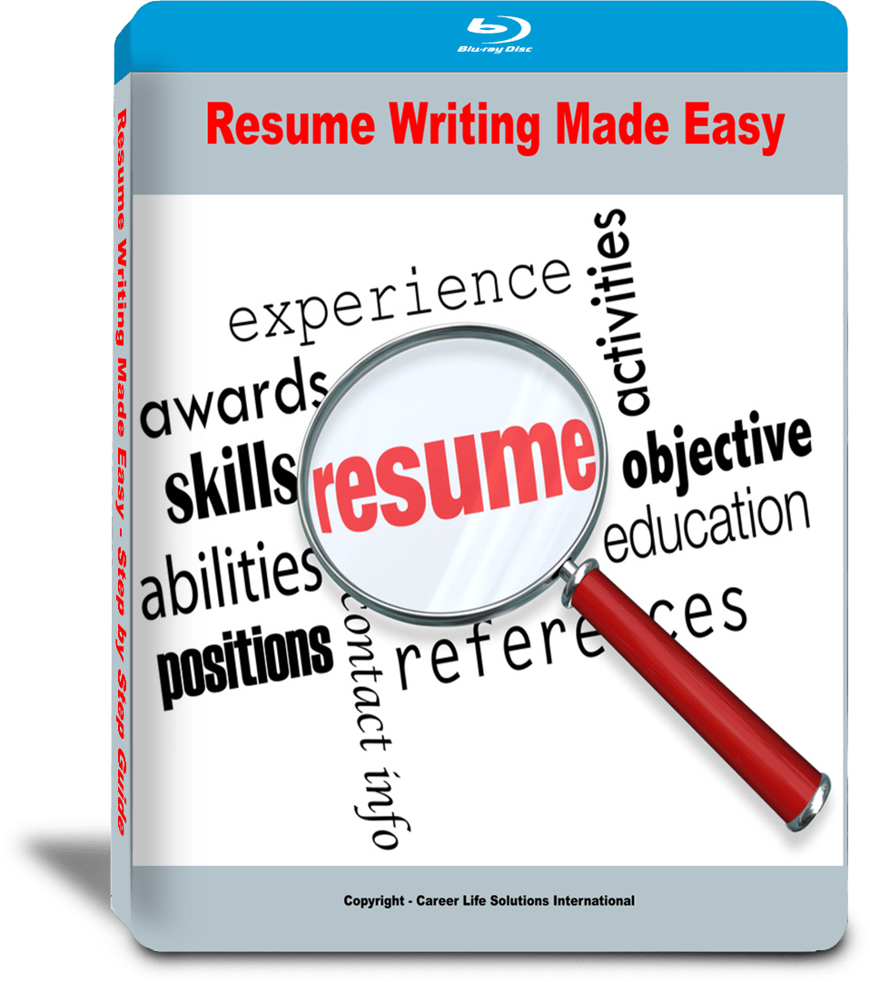BluRay cover for resume writing made easy