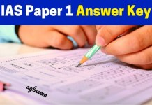 IAS Paper 1 Answer Key