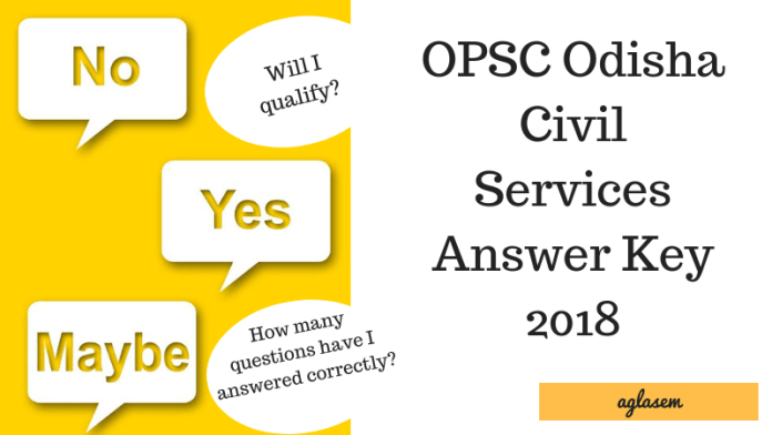 OPSC Odisha Civil Services Answer Key 2018