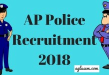 AP Police Recruitment 2018 Aglasem
