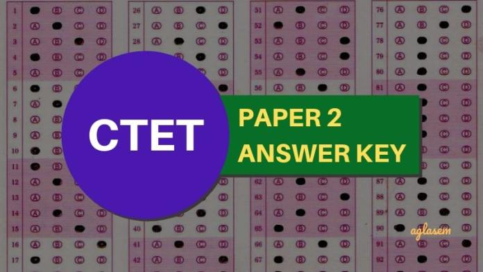 CTET Paper 2 Answer Key