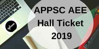 APPSC AEE Hall Ticket 2019 Aglasem