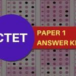 CTET Paper 1 Answer Key